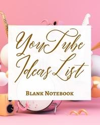 [해외]YouTube Ideas List - Blank Notebook - Write It Down - Pastel Rose Gold Pink - Abstract Modern Contemporary Unique Art