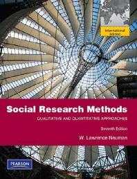 Social Research Methods 7/E: Qualitative and Quantitative Approaches (Paperback)