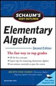 [해외]Schaum's Easy Outline of Elementary Algebra, Second Edition