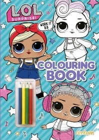 LOL Surprise! Colouring Book with Pencils