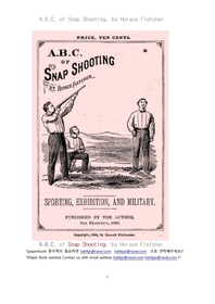 스냅슈팅 기초..A.B.C. of Snap Shooting, by Horace Fletcher