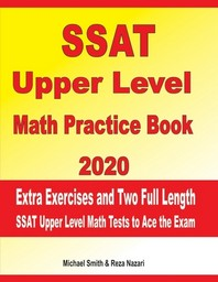 [해외]SSAT Upper Level Math Practice Book 2020 (Paperback)