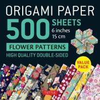 [해외]Origami Paper 500 Sheets Flower Patterns 6 (15 CM)