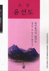 고산 윤선도(큰글 시문학선 36)