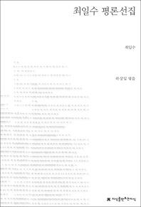 최일수 평론선집(지식을만드는지식 한국문학평론)