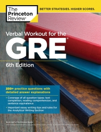 Verbal Workout for the GRE, (Graduate School Test Preparation)
