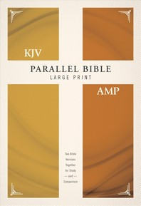 [해외]KJV, Amplified, Parallel Bible, Large Print, Hardcover, Red Letter Edition