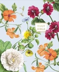 [해외]Niv, Artisan Collection Bible, Leathersoft, Blue Floral, Red Letter Edition, Comfort Print