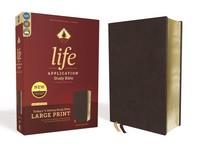 [해외]Niv, Life Application Study Bible, Third Edition, Large Print, Bonded Leather, Burgundy, Red Letter Edition (Bonded Leather)