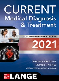 [해외]Current Medical Diagnosis and Treatment 2021