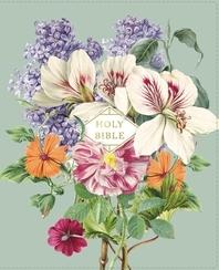 [해외]Nasb, Artisan Collection Bible, Leathersoft, Sage Floral, Red Letter Edition, 1995 Text, Comfort Print