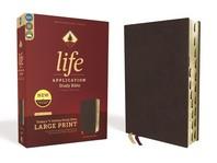 [해외]Niv, Life Application Study Bible, Third Edition, Large Print, Bonded Leather, Burgundy, Indexed, Red Letter Edition (Bonded Leather)
