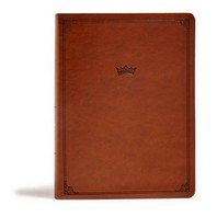 [해외]CSB Tony Evans Study Bible, British Tan Leathertouch (Imitation Leather)
