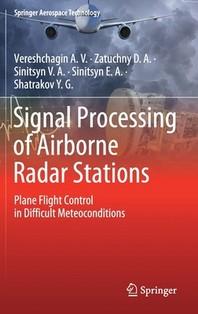 [해외]Signal Processing of Airborne Radar Stations