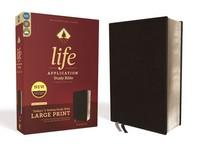 [해외]Niv, Life Application Study Bible, Third Edition, Large Print, Bonded Leather, Black, Red Letter Edition (Bonded Leather)