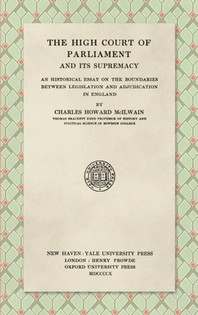 [해외]The High Court of Parliament and Its Supremacy (1910) (Hardcover)