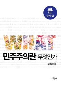 민주주의란 무엇인가 (큰글자책)(그린비 빅북 시리즈)