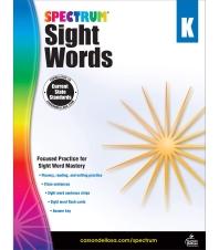 Spectrum Sight Words Grade. K