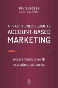 [해외]A Practitioner's Guide to Account-Based Marketing