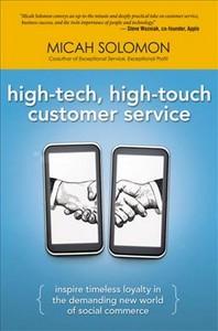 [해외]High-Tech, High-Touch Customer Service (Hardcover)