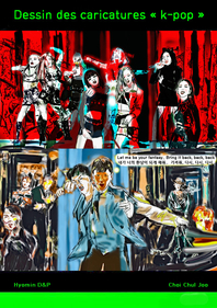 Dessin des caricatures  K-Pop