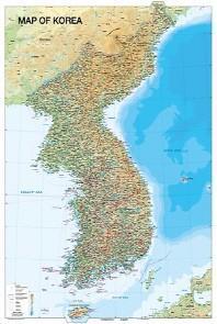 MAP OF KOREA (영문)(79*109)