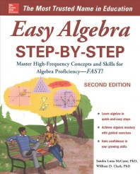 [해외]Easy Algebra Step-By-Step, Second Edition