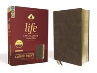 [해외]Niv, Life Application Study Bible, Third Edition, Large Print, Bonded Leather, Brown, Red Letter Edition (Bonded Leather)