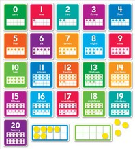 0-20 Numbers Set Bulletin Board