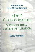 Alwd Citation Manual (무료배송)