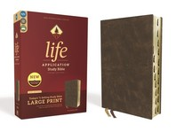 [해외]Niv, Life Application Study Bible, Third Edition, Large Print, Bonded Leather, Brown, Indexed, Red Letter Edition (Bonded Leather)