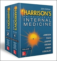 Harrison's Principles of Internal Medicine (Vol.1 & Vol.2) 19판입니다