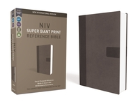 [해외]NIV, Super Giant Print Reference Bible, Giant Print, Imitation Leather, Gray, Red Letter Edition
