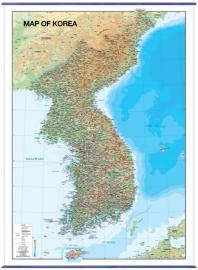 Map of Korea(대한민국)(코팅 표구)(걸이용)