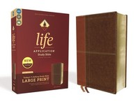 [해외]Niv, Life Application Study Bible, Third Edition, Large Print, Leathersoft, Brown, Red Letter Edition