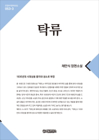 탁류(큰글한국문학선집 53-3)