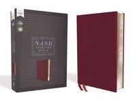 [해외]Nasb, Thinline Bible, Bonded Leather, Burgundy, Red Letter Edition, 1995 Text, Comfort Print