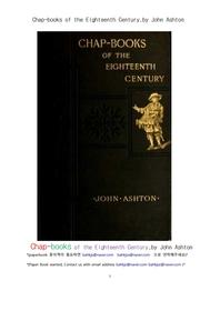 18세기초 영국의 채프북.Chap-books of the Eighteenth Century,by John Ashton