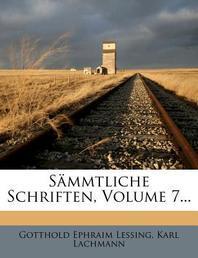 [해외]S Mmtliche Schriften, Volume 7... (Paperback)