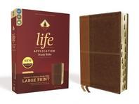 [해외]Niv, Life Application Study Bible, Third Edition, Large Print, Leathersoft, Brown, Indexed, Red Letter Edition (Imitation Leather)