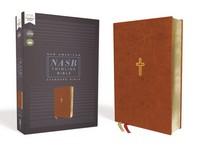 [해외]Nasb, Thinline Bible, Leathersoft, Brown, Red Letter Edition, 1995 Text, Comfort Print (Imitation Leather)