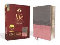 [해외]Niv, Life Application Study Bible, Third Edition, Large Print, Leathersoft, Gray/Pink, Red Letter Edition (Imitation Leather)