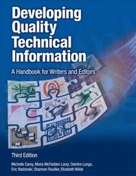 [해외]Developing Quality Technical Information