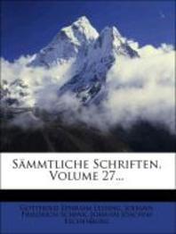 [해외]S Mmtliche Schriften, Volume 27... (Paperback)
