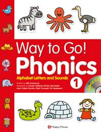 Way to Go Phonics. 1: Alphabet Letters and Sounds(CD2장포함)
