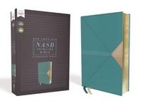 [해외]Nasb, Thinline Bible, Leathersoft, Teal, Red Letter Edition, 1995 Text, Comfort Print