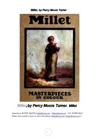 밀례 프랑스화가.Millet, by Percy Moore Turner