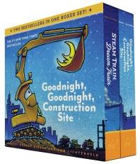 Goodnight, Goodnight, Construction Site and Steam Train, Dream Train Board Books Boxed Set (Board Books for Babies, Preschool Books, Picture Books for