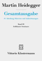 [해외]Martin Heidegger, Zollikoner Seminare (Hardcover)