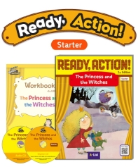 Pack-Ready Action 2E(Starter): The Princess and the Witches[SB+WB+CD](CD2장포함)(전2권)